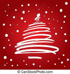 樹, 聖誕節, (vector)
