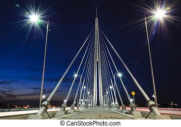 橋梁, 夜晚