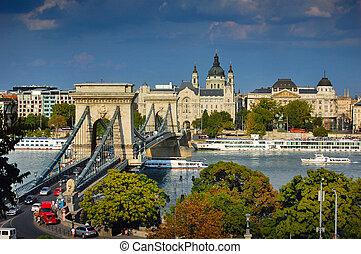 橋梁, 布達佩斯, 鏈子, 著名