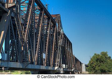橋梁, 生鏽, 訓練, 北方, 老