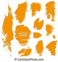 橙, 手工造, 刷子, 結構