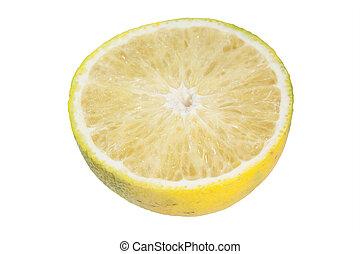 橙, 白色, 被隔离, 背景