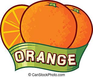 橙, 設計, 標簽