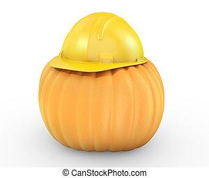 橙, 鋼盔, 黃色, 南瓜