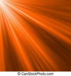 橙, 8, 發光, eps, rays.