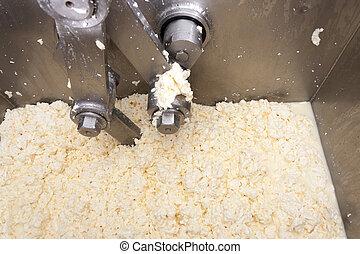 機器, 乳酪, 生產