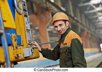 機器, 工人, 工業, 操作