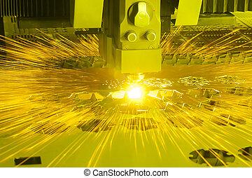機器, 工業, 切, 激光