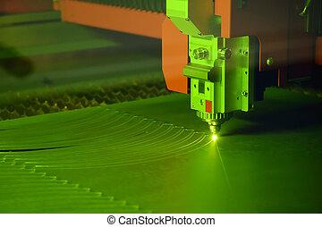 機器, 特寫鏡頭, 切, 激光