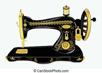 機器, 縫紉, 老