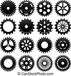 機器, 輪子, cogwheel, 齒輪