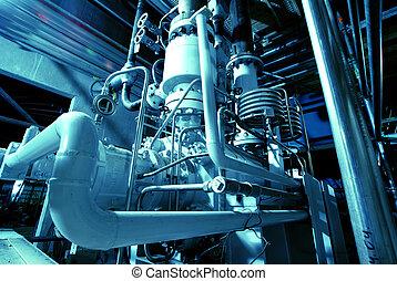 機械, 管子, 蒸汽, 力量, 渦輪, 管子, 植物