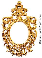 橢圓的框架, 金, 裝飾華麗