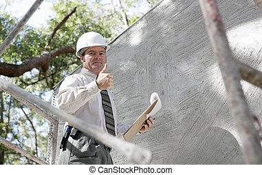 檢查員, 建設, thumbsup