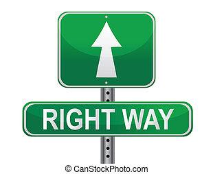權利, 街道, 方式, 簽署