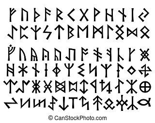 歐洲, 北方, runes, 年長, 其他, futhark