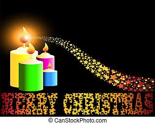 歡樂, 蠟燭, 聖誕節, 金