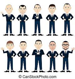 正式, suits., 人, 工人, 辦公室