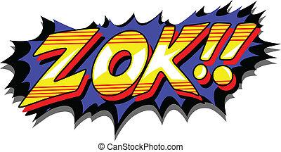 正文, zok, -, 矢量, 喜劇演員, 表示
