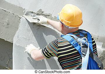 正面, 建造者, 工作, 抹灰工