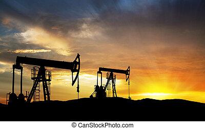 气体, 油探究裝置