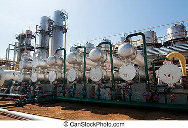 气体, 處理, factory., 看法