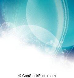 氣泡, 明亮, 摘要, 藍色的背景