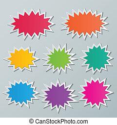 氣泡, starburst, 演說