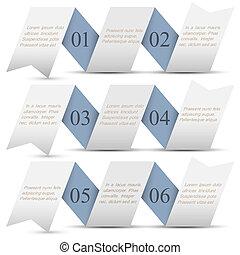 水平的旗子, 紙, origami, 編號