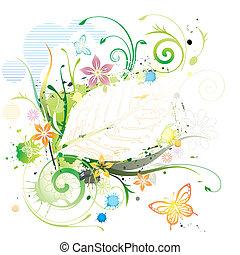 水彩畫, 植物