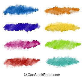 水彩 油漆, 摘要, 打擊
