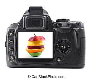 水果, 數碼相机, 蘋果