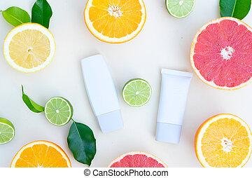 水果, 美麗, 油, 維生素, 柑橘屬, 關心, 血清, c