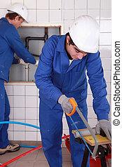 水管工, 工作, 努力, 二