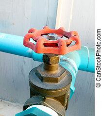 水管, pvc, 閥門