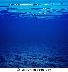 水, 在下面