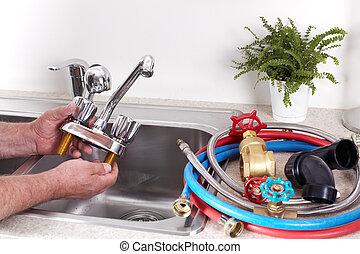 水, 水暖工, tap.