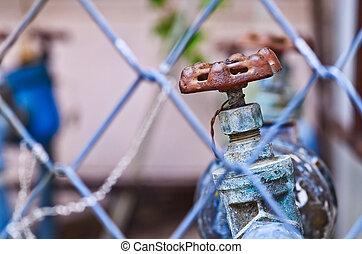 水, 生鏽, 閥門, 老
