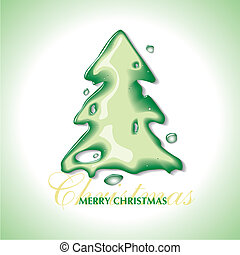 水, 聖誕節, 影響, 樹