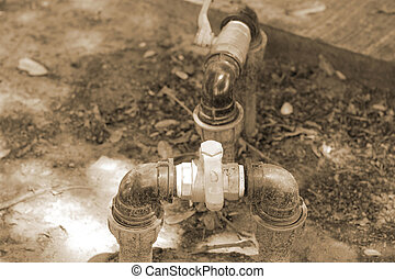 水, 閥門, 地面