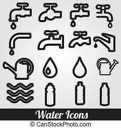 水, set., 相關, 圖象