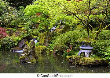 池塘, 日本花園