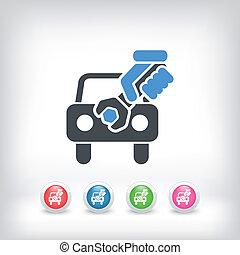 汽車, 協助, 概念, 圖象