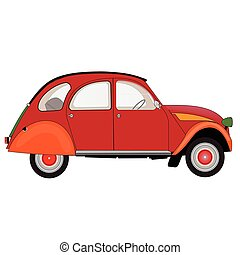 汽車, 白色紅