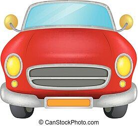 汽車, 白色紅, 背景