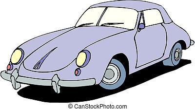 汽車, 矢量, 插圖