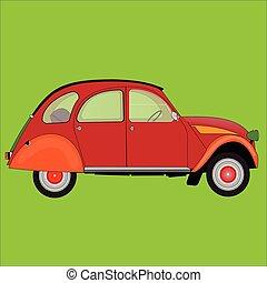 汽車, 綠色紅
