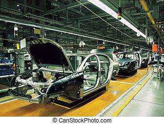 汽車, 線, 生產