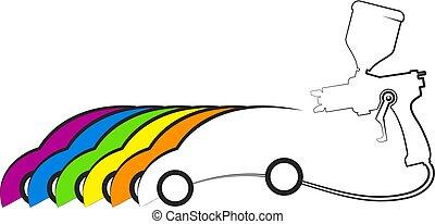 汽車, 設計, 畫
