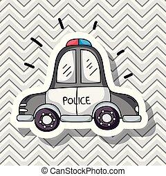 汽車, 運輸, 設計, 補丁, 警察